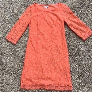 London Times Lace Coral Dress
